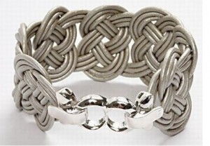 leather cord woven bracelet